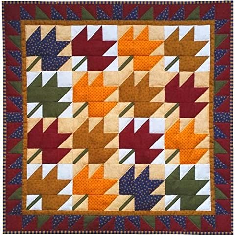 Rachel's Of Greenfield Leaves Wall Quilt Kit 22-inch X 22-inch