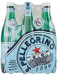San Pellegrino Acqua Minerale Naturale Frizzante - 6 Bottiglie da 750 ml