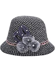 BBDM Damas moda sombreros de lana sombrero de punto , black