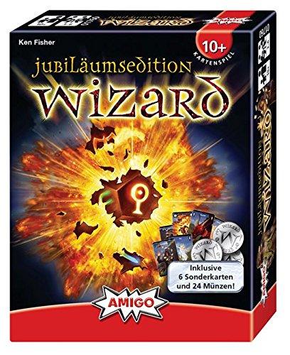 AMIGO - Wizard Jubiläumsedition 2017 - Kartenspiel mit 66 Spielkarten und 24 Münzen