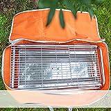 Stove Carry Bag Grill Griddle Carry Bag Barbecue Tool Sets Portable Burner Grill Storage Handbag Waterproof Oxford Orange