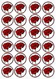 Rose fiori commestibili Premium spessore zuccherato vaniglia, wafer Rice Paper topper per cupcake/decorazioni
