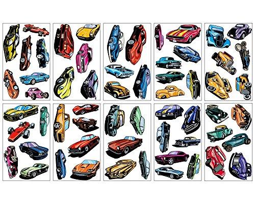 mega-auto-set-60-wandtattoo-wandsticker-hot-rod-muscle-car-supercars