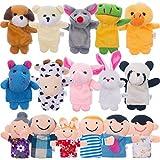 Jovitec 16 Piezas de Marionetas de Dedos Marionetas de Dibujos Animados en Estilo de Familias y...