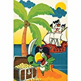 XXL Discount Kinderteppich für Junge Pirat, Spielteppiche 120 x 170 cm