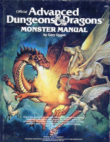 Advanced Dungeons and Dragons Monster Manual by Gary Gygax (1980-03-01)