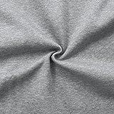Sweatshirt Baumwollstoff Stoff Meterware Hell-Grau meliert