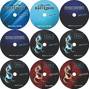 (2018.1 Latest Version) Kali Linux 32 Bit + Kali Linux Xfce 64 + Kali Linux Mate 64 Bit + Kali Linux Lxde 64 Bit + Kali Linux kde 64 Bit +Kali Linux Light 64 Bit+ Kali Linux 64 Bit + Kali Linux E17 64 Bit + Kali Linux Light 32 Bit + 9 DVD Pack Bootable Installation DVD