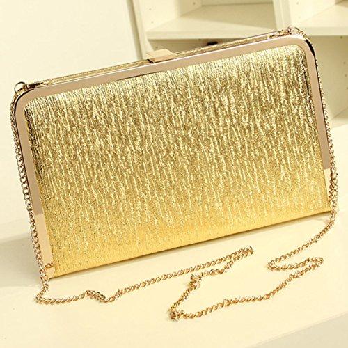 Sasairy 20x12x3cm Donna Bling Pochette Eleganti da Cerimonia Piccolo Mini Sera Borsa Glitter della Matrimonio Regalo di Compleanno Argento/Oro/Nero Oro