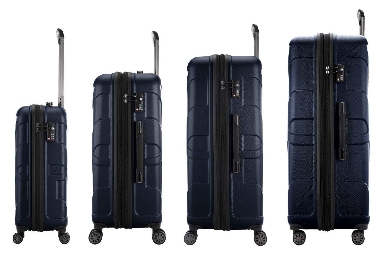 SUITLINE-Koffer-Set-4er-Set-Hartschalenkoffer-Trolley-Erweiterbar-S-M-L-XL-TSA-Koffer-85-cm