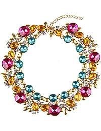 Beauty7 Collar De Gargantilla Babero Hebra florales De Las Mujeres Elegantes
