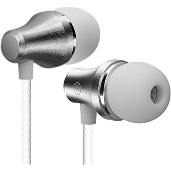 21ad56dd122 Earphones with Mic, VddSmm Deep Bass In ear Headphones Earbuds with Mic and  Remote (White-06V)