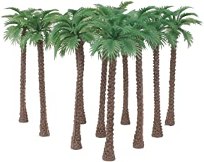 Imported 10pcs Model Coconut Palm Trees 1/65 14cm