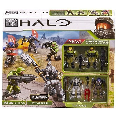 Mega Bloks Halo Exclusive Set #97519 Anniversary Collection: Battleground (Halo Lego Spielzeug)