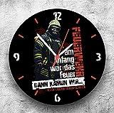 Roter Hahn 112 Hochwertige Feuerwehr Wanduhr UhrDann kamen wir/25cm/Geräucharm Vergleich