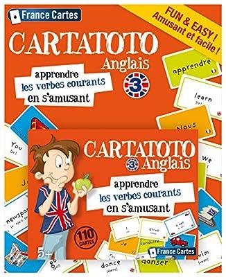 France Cartes - 410052 - Cartatoto Anglais 3 - Les Verbes Courants
