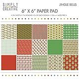 Rayher 60230000Scrap bloque de Jingle Bells, FSC Mix Cred., 15,2x 15,2cm, 120g/m2, 30bogen