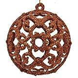 6X Bronze elegant Kugeln Weihnachtskugeln Christbaumkugeln Baumschmuck Weihnachtsdeko Xmas Tannenbaum Geschenk
