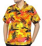 La Leela aloha coucher de soleil hawaïen bouton beachwear manches ...