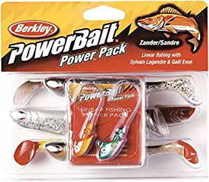 Berkley powerbait powerpack linear fishing kitFarbe assortis, longueur 9 & 11 cm-poids :  10 g & 12