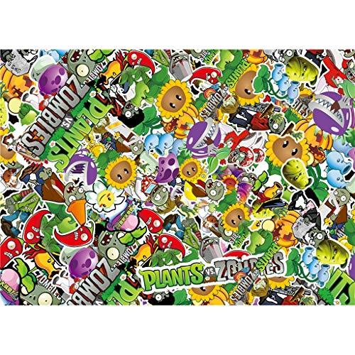 Unbekannt WYF Pflanzen Vs. Zombies Puzzles, Basswood Perfect Cut Fit, 300.500.1000 Teile P629 (Color : D, Size : 500pc) - New York Puzzle Teile 300