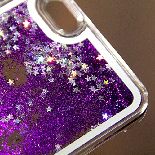 iPhone 6S Hülle OuDu Glitzern Funkeln Hülle TPU Silicone Etui für iPhone 6 Bling Glitter Case Soft Lightweight Bumper Sparkle Style Cover Flexible Schlanke Schale Glatte Leichte Tasche Ultra Dünne Etu Glänzende Lila