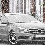 Navaris Auto Frontscheibenabdeckung Frostschutz Abdeckung - für alle PKW Modelle nutzbar - 150x70cm - auch als Sonnenschutz - Winter Frostabdeckung