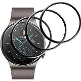 GEEMEE para Huawei Watch GT2 Pro Protector de Pantalla,3 Pack Humedecido Instalacion Ultra Claro Protector TPU Película Cober