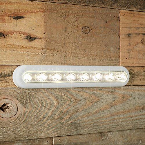 LED Touch Leuchtleiste warmweiß Batteriebetrieb 28cm Lights4fun (Holz-herd-licht)