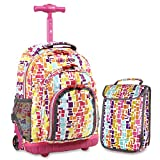 Best Rolling Back Packs - J World New York Lollipop Kids' Rolling Backpack Review