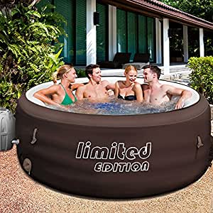bestway lay z spa limited jacuzzi whirlpool heated pool with filter pump outdoor. Black Bedroom Furniture Sets. Home Design Ideas