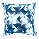 H.O.C.K. Gauzy Outdoor Kissen 50x50cm blue No.16 colblo