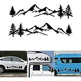 Natur Kompass Landschaft Berge Wald Auto /& Wohnwagen Aufkleber Sticker Dekor