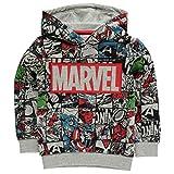 Marvel. Comics Avengers garçon Graphic Sweat à Capuche pour Enfant Junior Enfant Motif Personnage - Gris - 7-8 Ans
