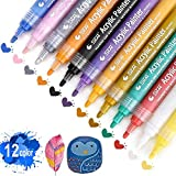 Best US Art Supply Kids Markers - Acrylic Paint Marker Pens - Fine Point Tip Review