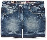 s.Oliver Mädchen Shorts 66.803.72.5295, Blau (Blue Denim Stretch 56z3), 158 (Herstellergröße: 158/REG)