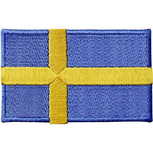 Schweden-Flagge, bestickter Aufnäher zum (Schweden Kostüm Für Jungen)
