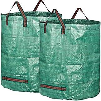 GardenMate 500 L Sacos de jardín Profesional Tejido de Polipropileno Robusto (PP)