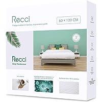 RECCI Protège Matelas 60x120 cm - 100% Fibre de Bambou, Ultra Doux, Hautement Respirant, Hypoallergénique, Silencieux…