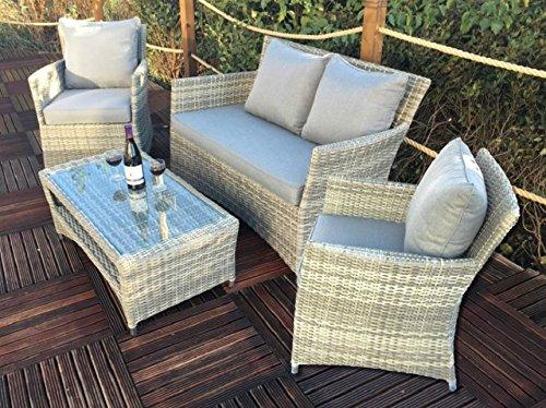 Royalcraft winlou4cla Windsor Classic 4-Sitzer-Sofa-Set, grau (Dining Chair Windsor)