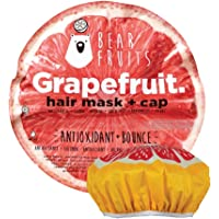 BearFruits Maschera Capelli + Cuffia Capelli, Pompelmo, Antiossidante e Volumizzante, 1 Maschera 20 ml + 1 Cuffia…