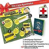Geschenk-Set: Die Liga-Apotheke für BVB-Fans | 3X Süße Schmerzmittel für Borussia Dortmund Fans | Die Besten Fanartikel der Liga, Besser als Trikot, Home Away, Fan-Schal & Kennzeichenhalter