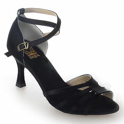 Jia Jia 20513 Latin Women's Sandals 2 7'' Flared Heel Super Satin Dance  Shoes: Amazon: Shoes & Bags