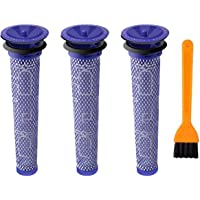 Nordun 3 Pack Washable Pre Motor Stick Filters for Dyson DC58 DC59 DC61 DC62 V6 V7 V8 Animal Vacuum Cleaner, Replacement…