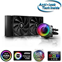 DEEPCOOL Castle 240 EX, Addressable RGB AIO Liquid CPU Cooler, Anti-Leak Technology Inside, Cable Controller and 5V ADD…