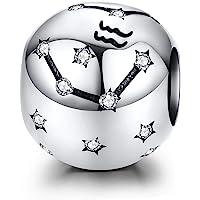 LaMenars Ciondolo a forma di segno zodiacale, in argento Sterling 925, compatibile con braccialetti e collane Pandora…
