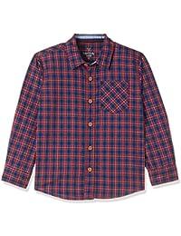 Allen Solly Junior Boys' Checkered Regular Fit Shirt
