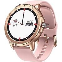 SANAG Smartwatch Frauen, Smartwatch Wasserdicht IP67, HD-Touchscreen, Sportaktivitäts-Tracker mit Herzfrequenzmesser…