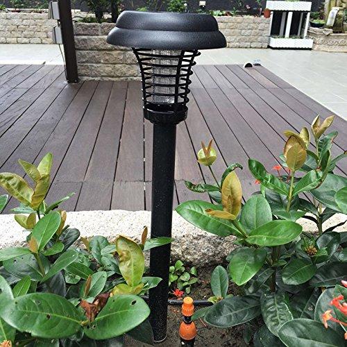 STYHOMSUN Solar Anti–Mosquito Lampe LED Solar Rasen Lampe Violett Zwei–Stage Insektenspray Lampe Zwei–Pole (Solar-pole-lampen)