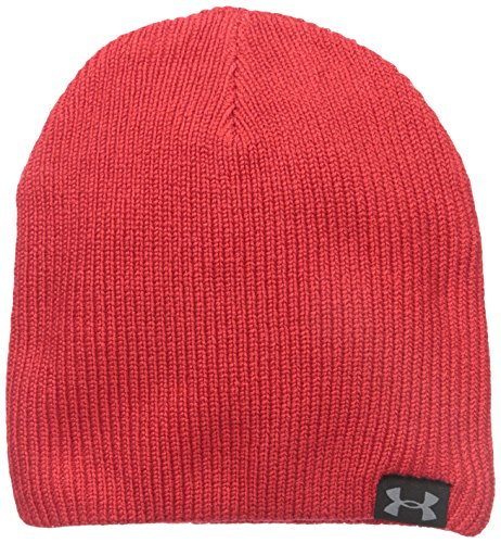 Under Armour Herren Sportswear Hut UA Basic Knit Beanie Red/Blk/STL, One Size Basic Knit Beanie Cap